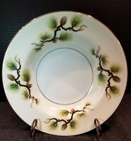 "Vintage Narumi China Shasta Pine Rim Soup Bowl ""Pine Cone"" Made In Japan MCM"