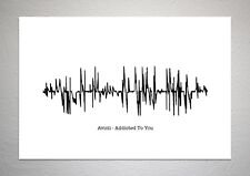 Avicii - Addicted To You - Sound Wave Print Poster Art