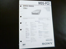 Original Service Manual Schaltplan  Sony MDS-PC2