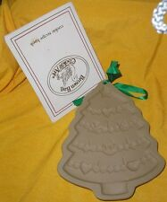 1986 Brown Bag Cookie Art Mold Christmas Tree With Garland Star w/Recipe Booklet