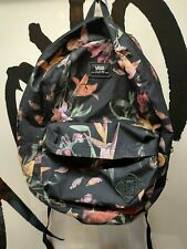 Vans Off The Wall - Rucksack / Backpack - Floral Pattern Flowers Pink Red - Used