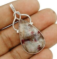 Natural Lepidolite 925 Solid Sterling Silver Pendant Jewelry ED28-3