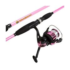 Wakeman Strike Series Spinning Rod and Reel Combo - Silver Metallic Hot Pink