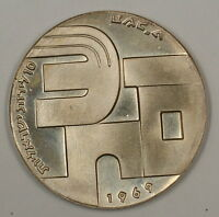 1969 Israel 10 Lirot Independence Day Shalom Silver UNC Coin NO Case NO COA