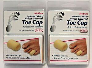 (2) PediFix Nylon Covered Medium Toe Cap