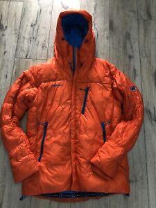 MAMMUT EXTREME Eigerjoch Ajungilak Down Orange Mountain Jacket Size M