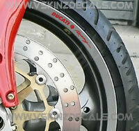 8x Ducati Racing Logo Premium Cast Wheel Rim Decals Stickers Panigale Supersport
