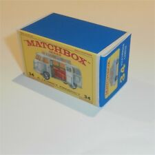 Matchbox Lesney 34 c Volkswagen Silver Camper Repro E Style Empty Box