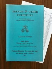 French & Other Furniture Parke Bernet Auction Catalog June 8 1967