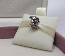 New w/Box Pandora Sterling Silver Lucky Elephant Charm #791130 Africa Safari Zoo
