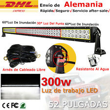 "52"" 300W LED barra de luz trabajo Spot Flood Combo FOCO 4x4 4wd Light Bar camión"