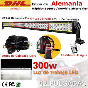 """52"""" 300W LED Barra De Luz Trabajo Spot Flood Combo FOCO 4x4 4ED Light Bar Camión"""