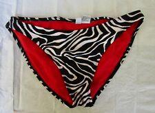 Neport News Zebra Print Women's Bikini Bottom Sz 14 Swimsuit Swim Suit