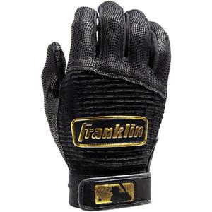 Franklin Pro Classics Adult Batting Gloves Pair - Black/Gold - L