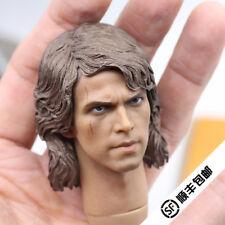 "1/6th Anakin Skywalker/Darth Vader Head Sculpt Star Wars For 12"" Male Action"