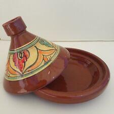 Plat a tajine tagine Marocain a6 cuisson terre cuite émaillé 30cm 5/6 personnes