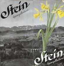 Prospectus-Tourisme : STEIN, APPENZELLERLAND. Travel Ephemera, Suisse. ca 1950