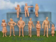 F33 - G Scale - 10 pcs Figurines Unpainted Standing + Sitting LGB U.Carrera 124