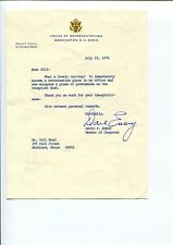 David F. Emery Maine US Representative Congress Signed Autograph TSL