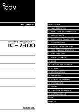 Highest Quality ~ Icom IC 7300   Operating Manual