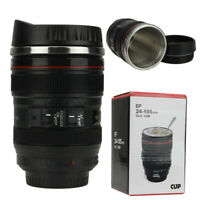 Camera Lens Coffee Mug Cup Tea Travel Photo Funny DSLR Stainless Steel Thermos