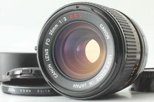 [N Mint] Canon FD 35mm F2 S.S.C. MF Wide Angle Lens w/ Hood BS-55 from Japan