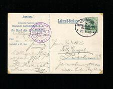 Zeppelin Sieger 6 Ia 1912 Hansa Pioneer Zep Flight  on Official Zep Card