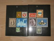Max Hertsch, Kurt Wirth: Schweizer Briefmarken, 2  Bände