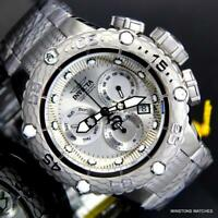 Invicta Subaqua Noma VI Silver Tone Stainless Steel Chronograph 50mm Watch New