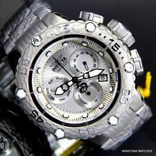Invicta Subaqua Noma VI Silver Tone Stainless Steel Chronograph 50mm Watch New