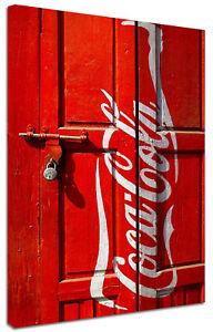 Quadro Moderno Arredamento Vintage Porta Coca-Cola Arredo Casa Stampa su Tela