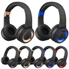 Wireless BT Headphones Over Ear Stereo Super Bass Earphone Headset Mic FM US