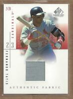 2001 SP Game Used Edition Authentic Fabric #FTA Fernando Tatis Jersey