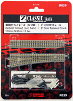 Rokuhan R039 R490mm 13 Remote Turnout (Left Hand) & 110mm Track (1/220 Z Scale)