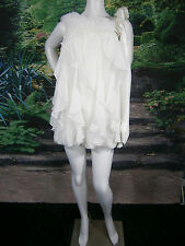 DAVID FIELDEN ENGLAND KLEINFELD WEDDING GOWN DRESS SHORT SEXY SILK 10 FLOWS NICE