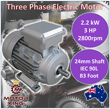 2.2kW 3HP Three-phase 2800rpm Electric Motor 24mm Shaft 415v B3 Foot Mount