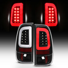 NEW Black 2008-2016 Ford F250 F350 F450 SD SuperDuty LED Tube Tail Lights Lamps