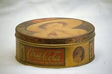 Vintage Style Advertising Ad Drink Coca Cola Coke Litho Tin Can Container w Lid