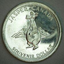 1986 Canada Goose Jasper Canada Souvenir Dollar Coin Jasper Bear Yellowhead HWY