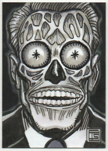 They Live Alien Personal Sketch Card PSC Tim Shinn Original Art