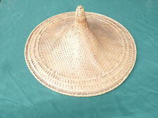 More details for vintage traditional chinese / asian conical straw farmers hat large 22