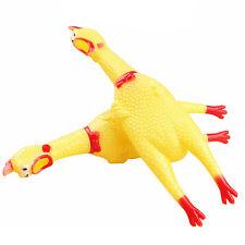 Gelb Pop Schreien Gummi-Huhn Hund Spielzeug Squeak Quietsche Spielzeug-Kauen';
