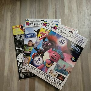 Colorforms Lot Of 3 Toy Story  4 Mickey Trolls  Over 40 Stickers Each Fun (L3