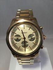 DKNY Damen Uhr Chrono NY2330 Edelstahl Goldfarben Metallarmband