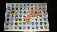 1 Sheet Collector Lot Un-punched Pogs / Milk Caps Learning Our World 1995 Teach