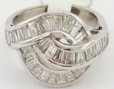 1.5 ct 18K White Gold Baguette Cut Diamond Fashion / Cocktail Ring