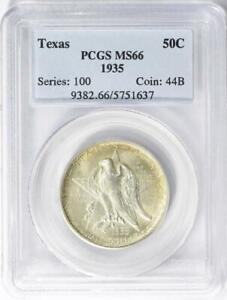 1935 Texas Silver Commemorative Half Dollar - PCGS  MS-66 - Mint State 66