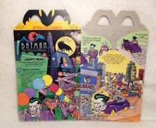 1993 BATMAN THE ANIMATED SERIES HAPPY MEAL BOX: (JOKER & RIDDLER) / PRE OWNED