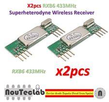 2pcs RXB6 433MHz Superheterodyne Wireless Receiver Module