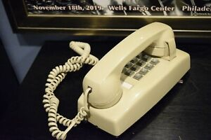 CORTELCO WALL PHONE 2554 Vintage Push Button Analog